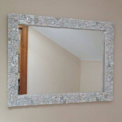 Custom Made Mosaic Wall Mirror, Whitelive In Mosaics Intended For Mosaic Wall Mirrors (#6 of 20)