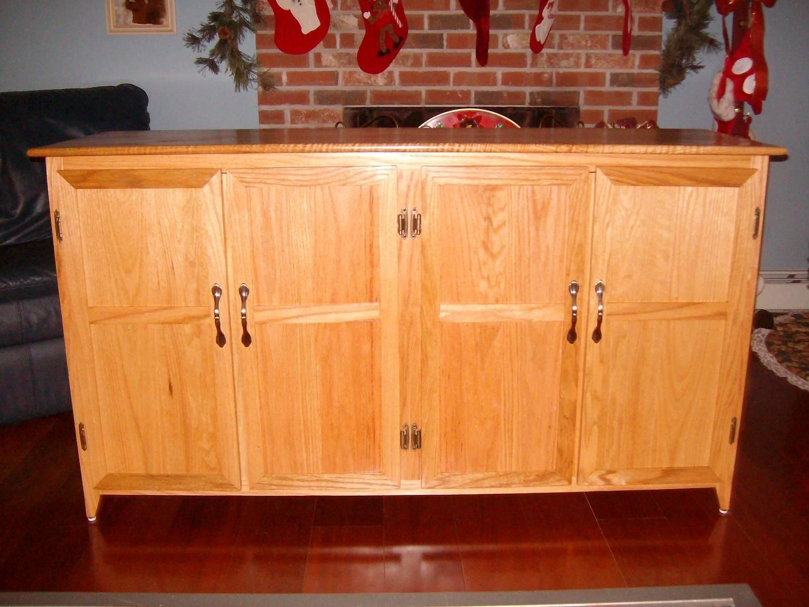 Custom Made Red Oak Kitchen Sideboardduczynski Woodworking Inside Kitchen Sideboard (#4 of 20)