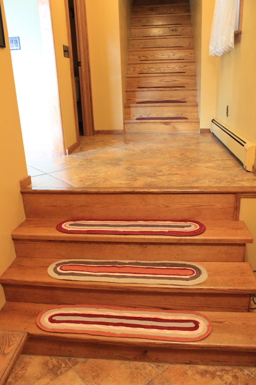Custom Stair Treads Handmade Braided Rug Style Any Color And Pertaining To Stair  Treads Braided Rugs