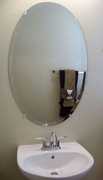 Popular Photo of Beveled Edge Oval Mirrors