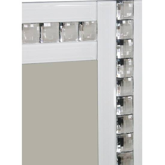 Daisy Wall Mirror Large In White With Acrylic Crystals Pertaining To Wall Mirrors With Crystals (#12 of 20)