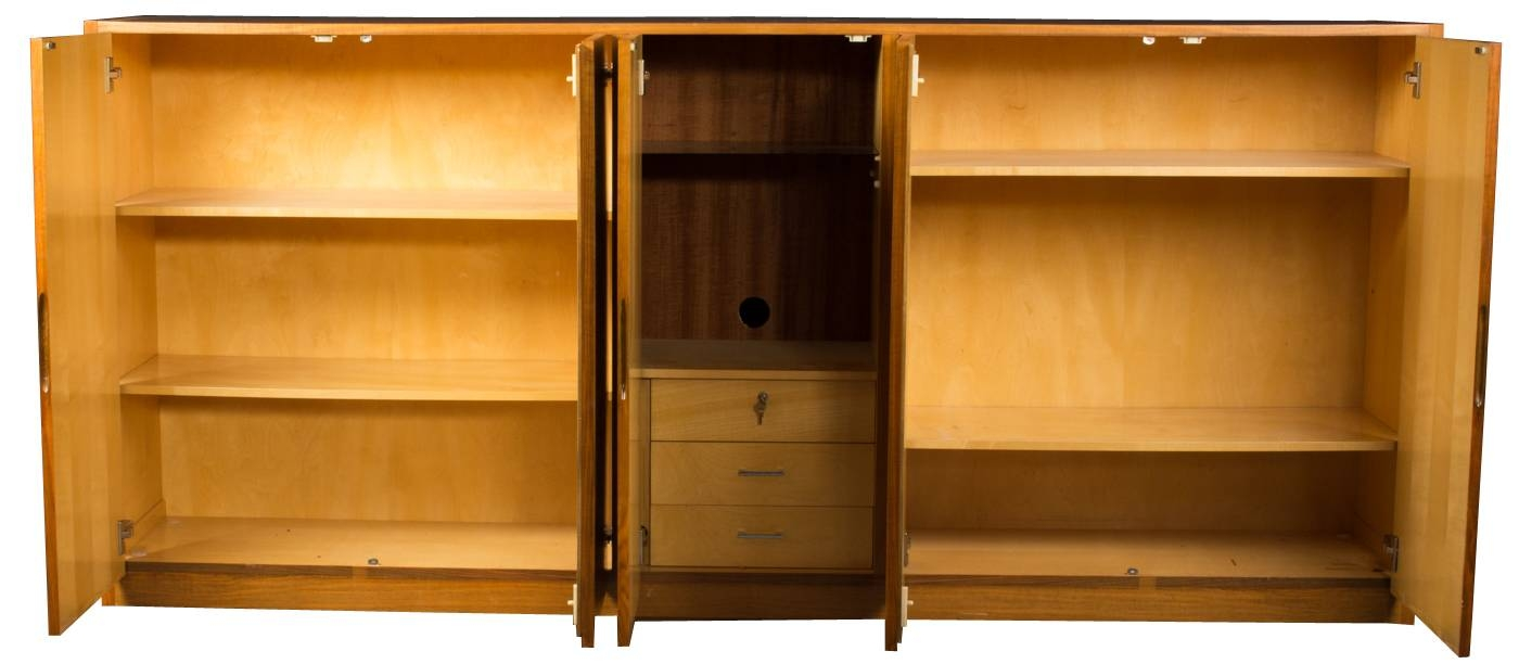 Danish Mid Century Sideboard In Dark Wood Veneer For Sale At Pamono Throughout Dark Brown Sideboard (#5 of 20)