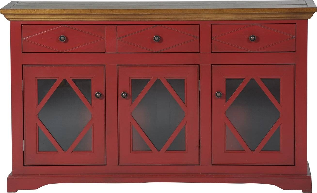 20 inspirations of red sideboards for Sideboard petrol