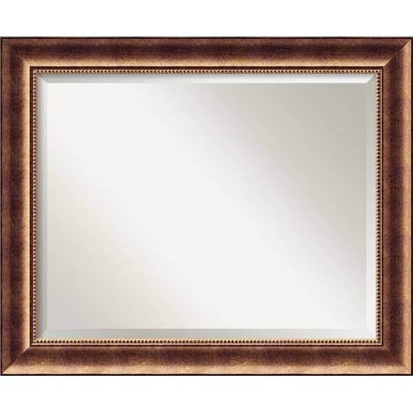 Darby Home Co Bronze Wood Wall Mirror & Reviews | Wayfair Inside Bronze Wall Mirrors (#8 of 20)