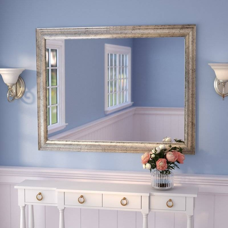 Darby Home Co Curren Vintage Silver Wall Mirror & Reviews   Wayfair In Long Silver Wall Mirrors (#9 of 15)