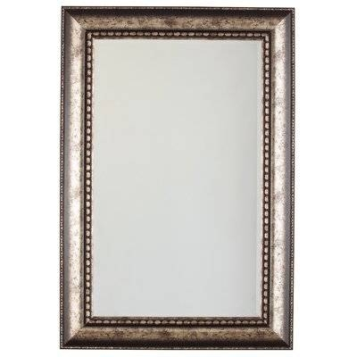 Darby Home Co Rectangle Antique Silver Glass Wall Mirror & Reviews Pertaining To Long Silver Wall Mirrors (#10 of 15)
