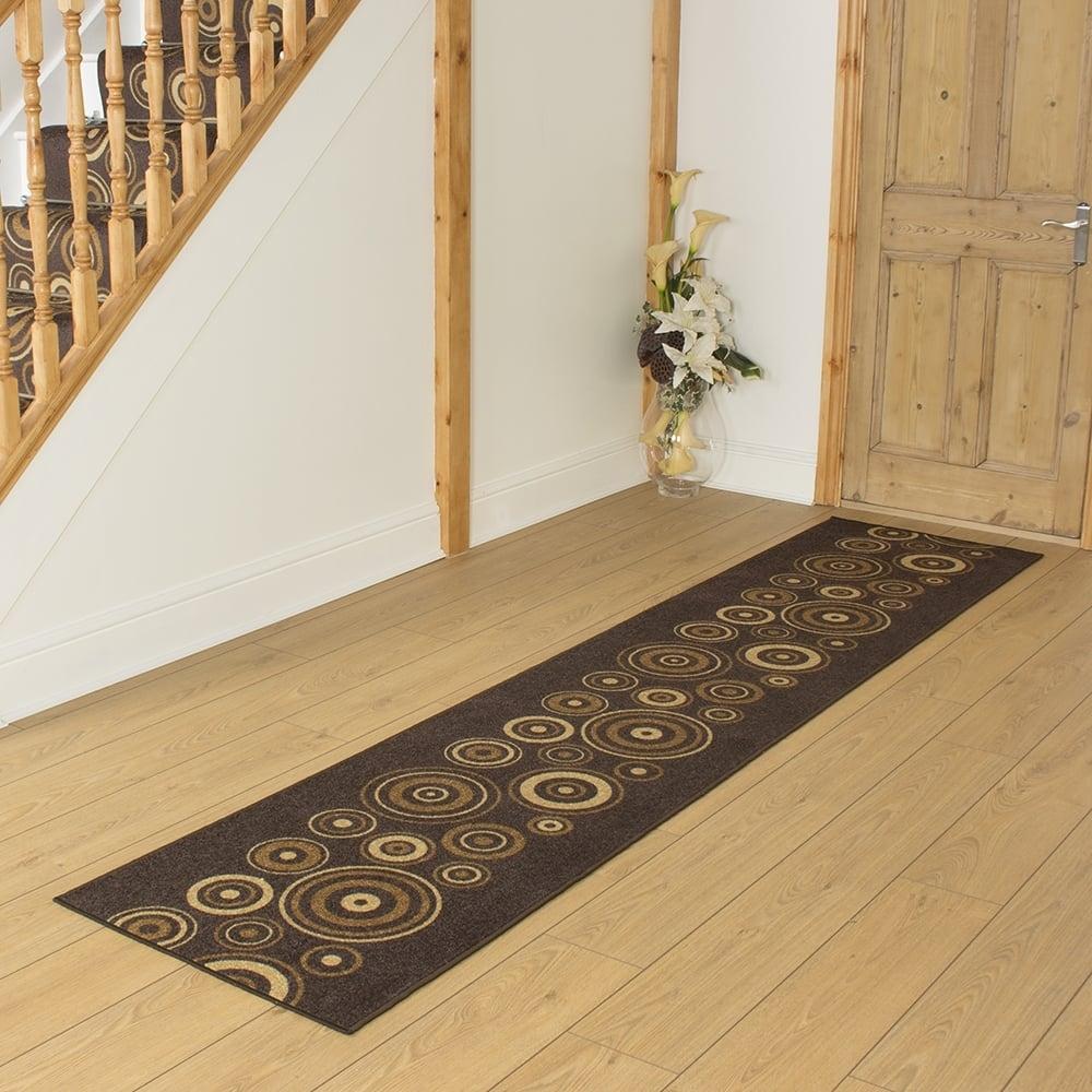 Dark Brown Hallway Carpet Runner La Rambla Intended For Hall Runner Dark Brown (#10 of 20)