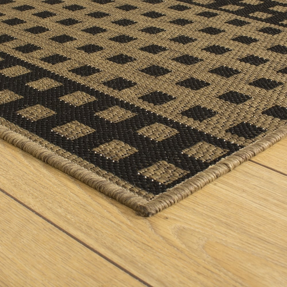 Dark Brown Hallway Carpet Runner Lattice With Regard To Hall Runner Dark Brown (#12 of 20)