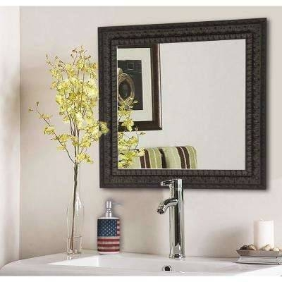 Dark Brown Wood – Mirrors – Wall Decor – The Home Depot Throughout Embellished Mirrors (#21 of 30)
