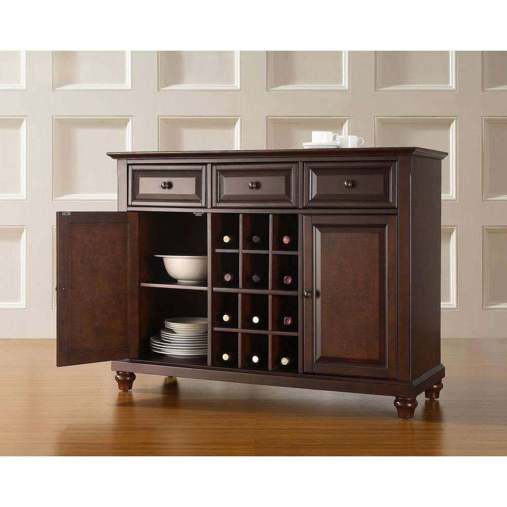 Dark Brown Wood – Sideboards & Buffets – Kitchen & Dining Room Inside Dark Brown Sideboard (#9 of 20)