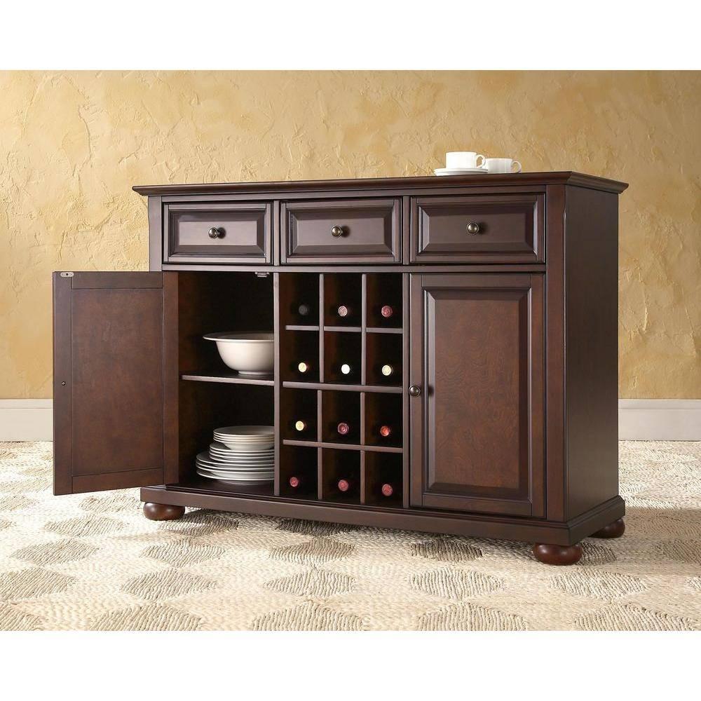 Dark Brown Wood – Sideboards & Buffets – Kitchen & Dining Room Regarding Dark Brown Sideboard (#10 of 20)