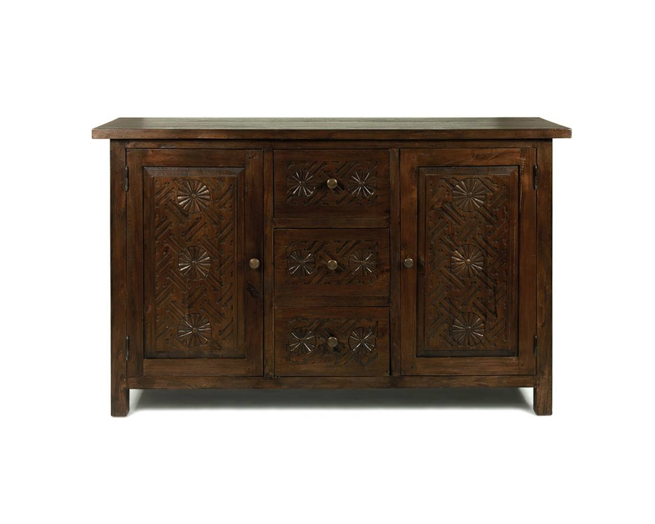 Dark Wood Buffet Sideboard Home Maharani Dark Wood Sideboard 2 With Regard To Small Dark Wood Sideboard (#5 of 20)
