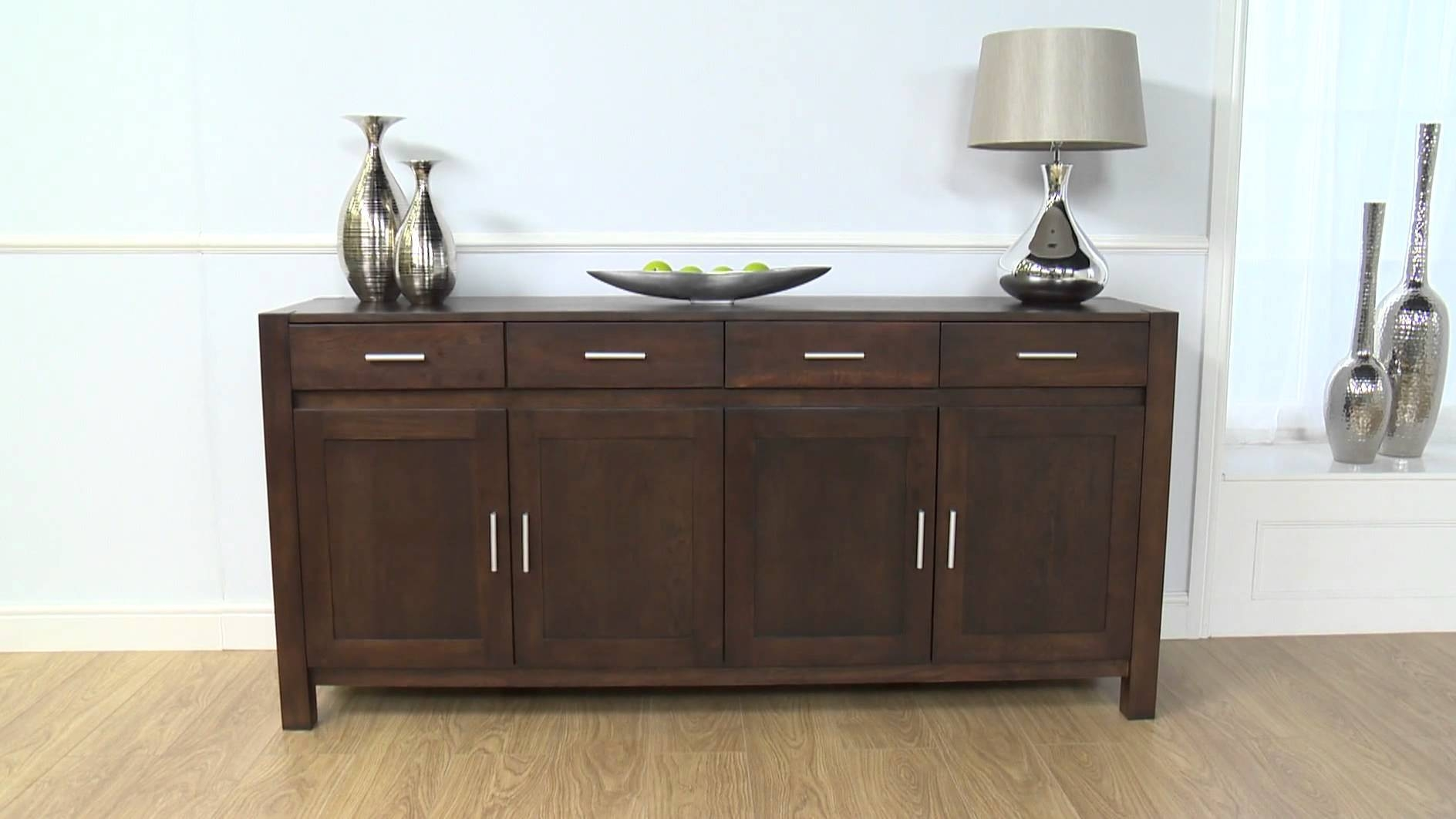 Dark Wood Buffet ~ Photo of small dark wood sideboard