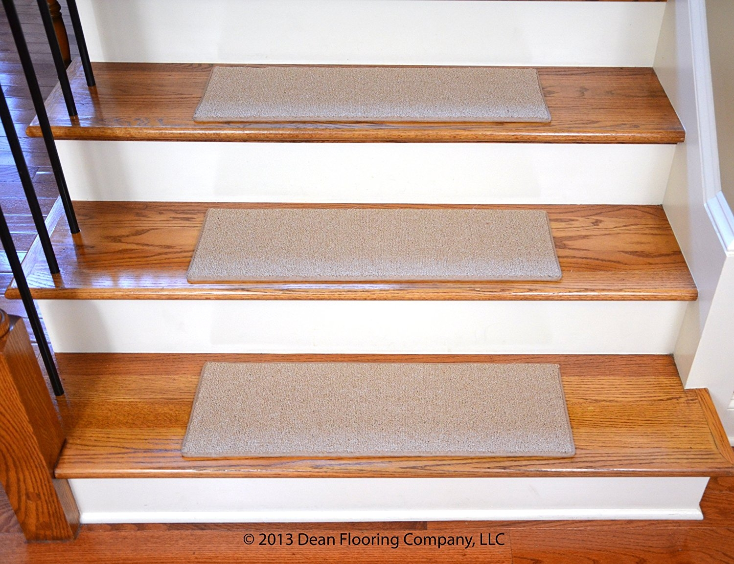 Dean Non Slip Tape Free Pet Friendly Diy Carpet Stair Treadsrugs Pertaining To Stair Tread Rugs For Dogs (View 16 of 20)