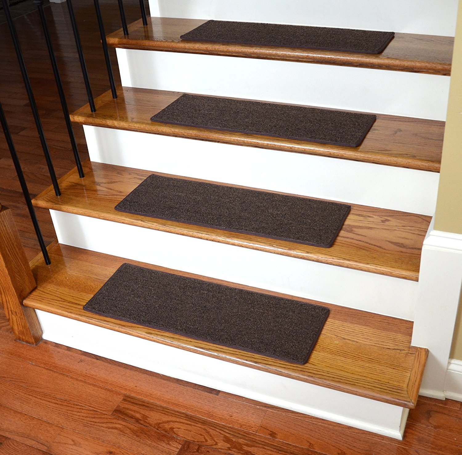 Dean Non Slip Tape Free Pet Friendly Diy Carpet Stair Treadsrugs Throughout Non Skid Stair Tread Rugs (#3 of 20)