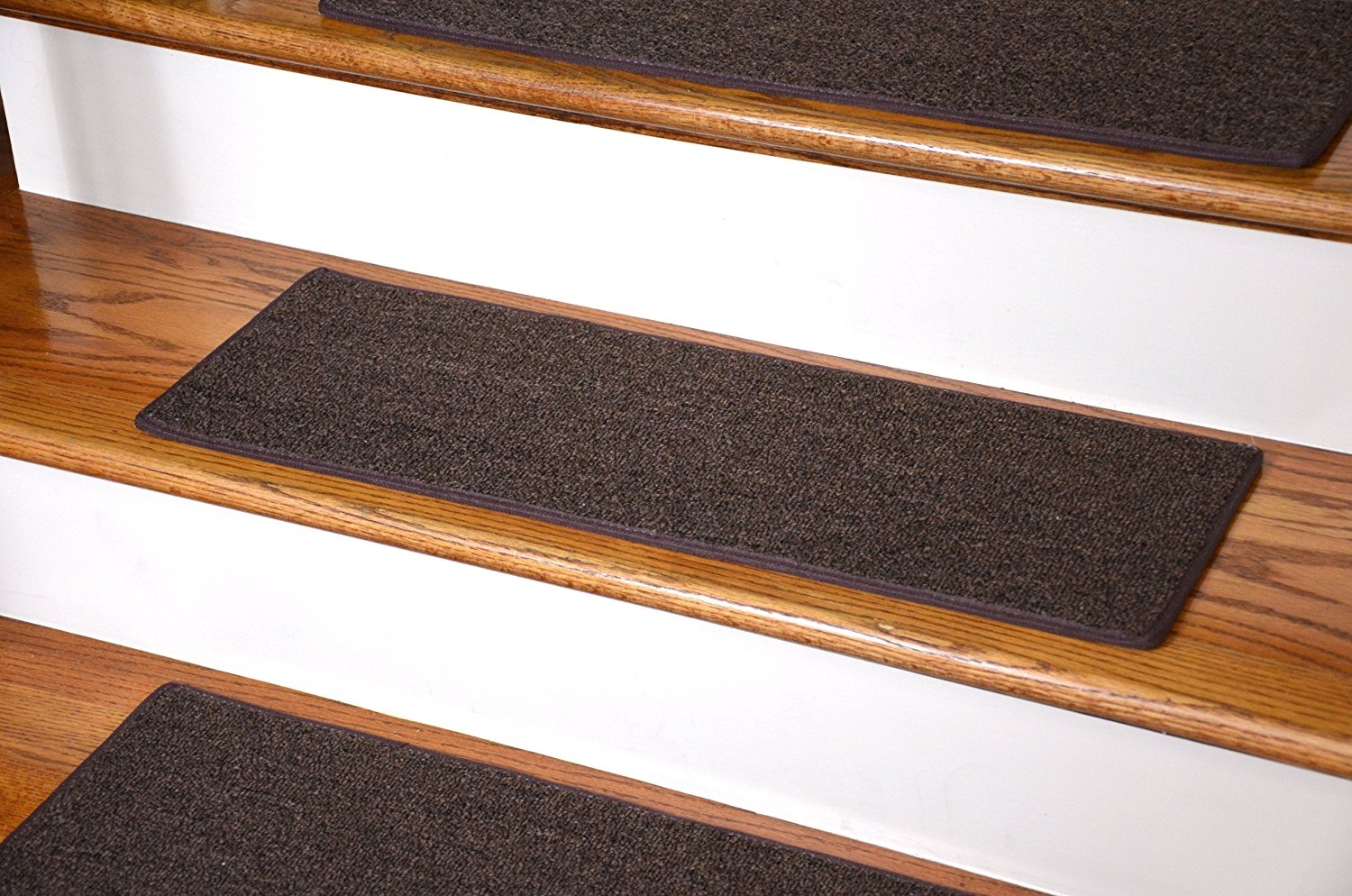 Dean Non Slip Tape Free Pet Friendly Diy Carpet Stair Treadsrugs With Regard To Brown Stair Treads (#5 of 20)