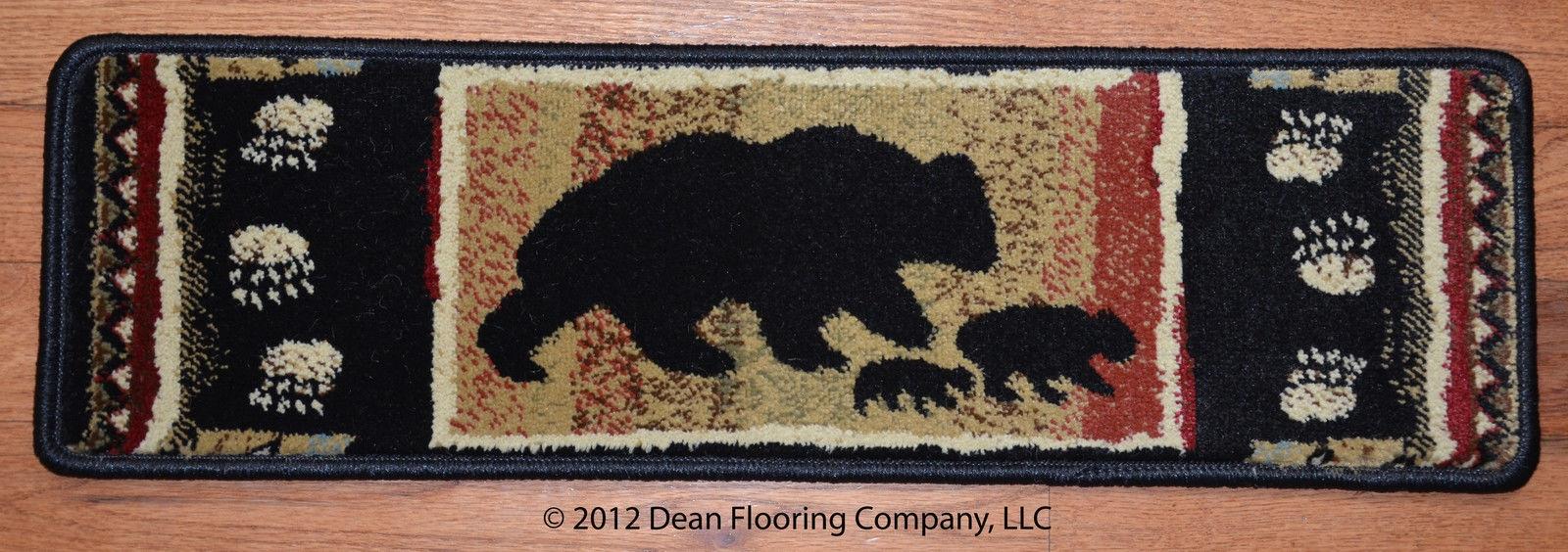 Dean Premium Carpet Stair Treads Rugs Black Bear Cabin Lodge In Premium Carpet Stair Treads (#13 of 20)