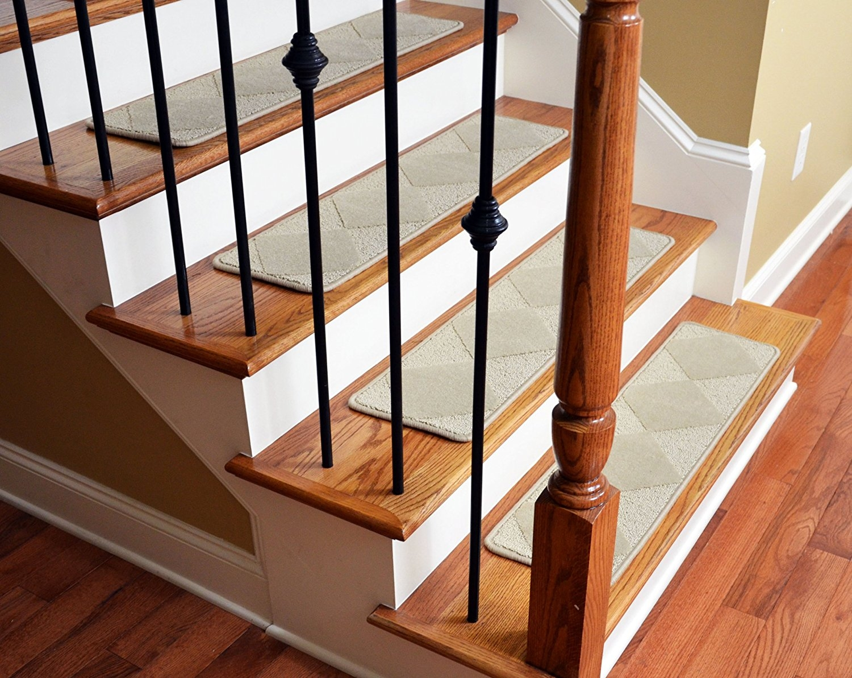 Dean Premium Serged Carpet Stair Treads Diamond Beige 35 X 9 Throughout Premium Carpet Stair Treads (#14 of 20)