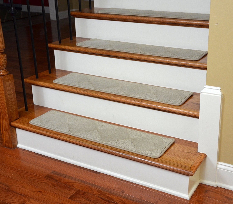 Dean Premium Serged Carpet Stair Treads Diamond Beige 35 X 9 With Regard To Contemporary Stair Treads (#7 of 20)