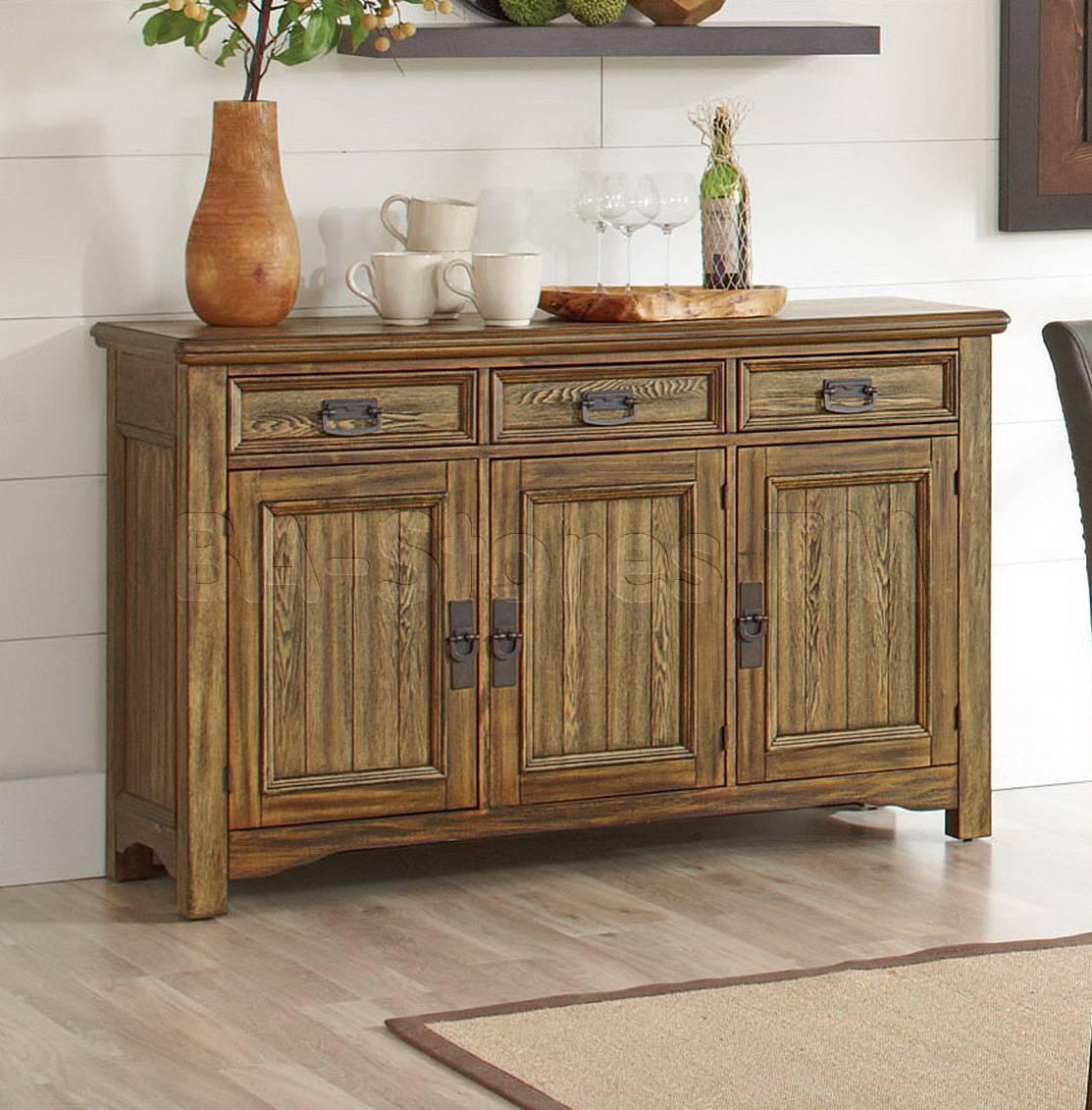 Decor: Rustic Oak Sideboard And Rustic Sideboard Inside Rustic Sideboards (View 6 of 20)
