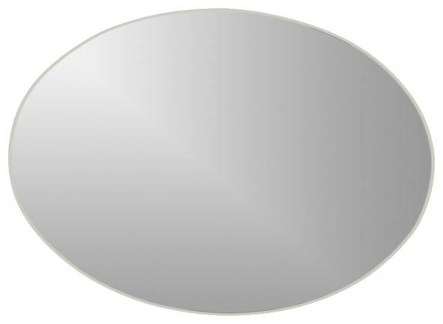 Decor Wonderland Extra Long Oval Wall Mirror – Bathroom Mirrors Within Large Oval Mirrors (#10 of 20)