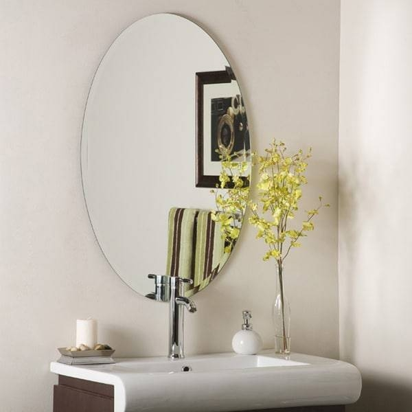 Decor Wonderland Frameless Oval Beveled Mirror – Free Shipping With Regard To Oval Bevelled Mirrors (#13 of 30)