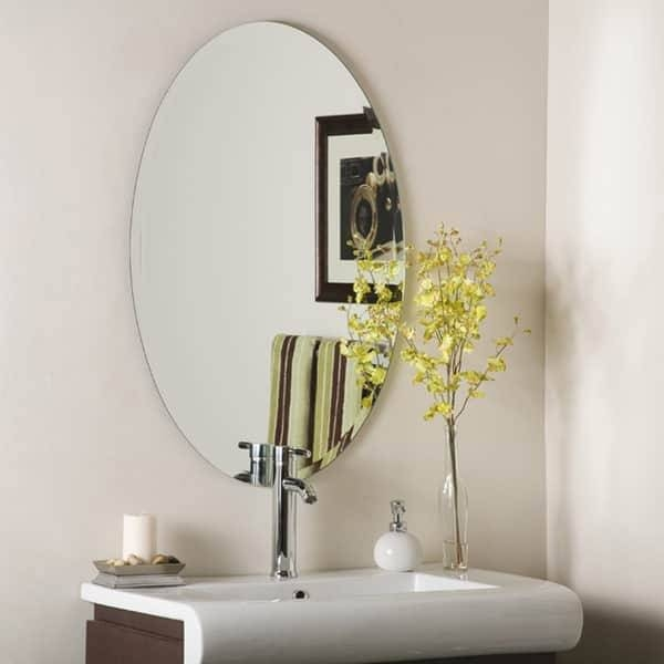 Decor Wonderland Frameless Oval Beveled Mirror – Free Shipping Within Bevelled Oval Mirrors (#9 of 20)