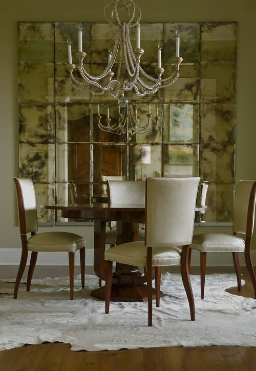 Decorate Dining Rooms With Large Mirrors Inside Vintage Large Mirrors (#19 of 30)