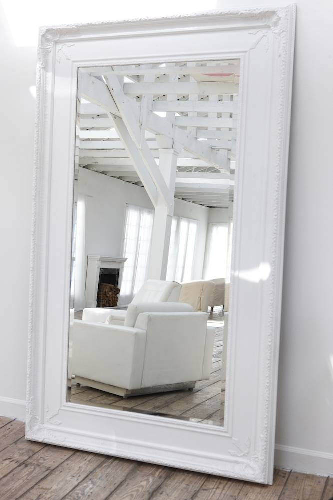Decorating Mirror Inside Big White Mirrors (#19 of 20)