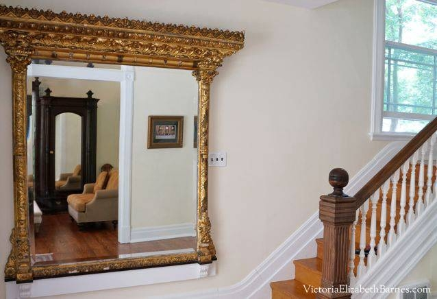Decorating Our Victorian Home Via Craigslist! In Large Ornate Gold Mirrors (#24 of 30)