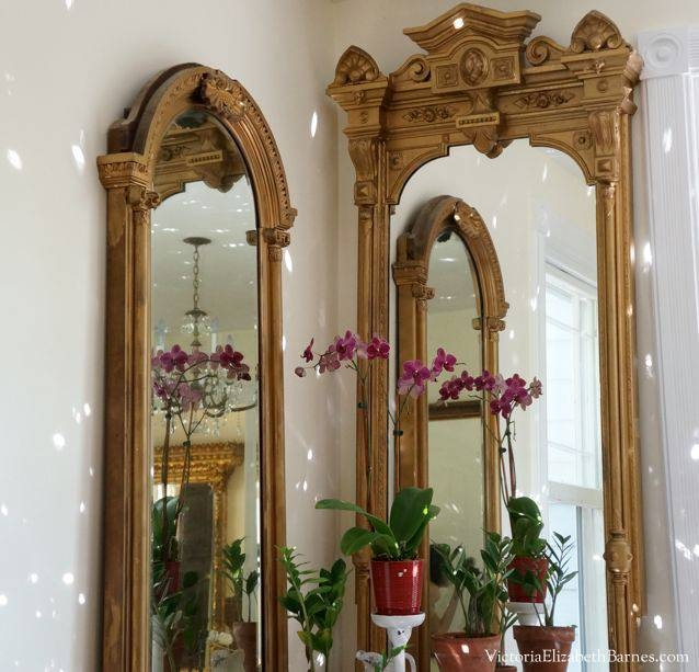 Decorating Our Victorian Home Via Craigslist! With Extra Large Gold Mirrors (View 11 of 15)
