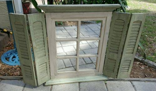 Decorating » Window Pane Mirror With Shutters – Inspiring Photos With Wall Mirrors With Shutters (#13 of 20)