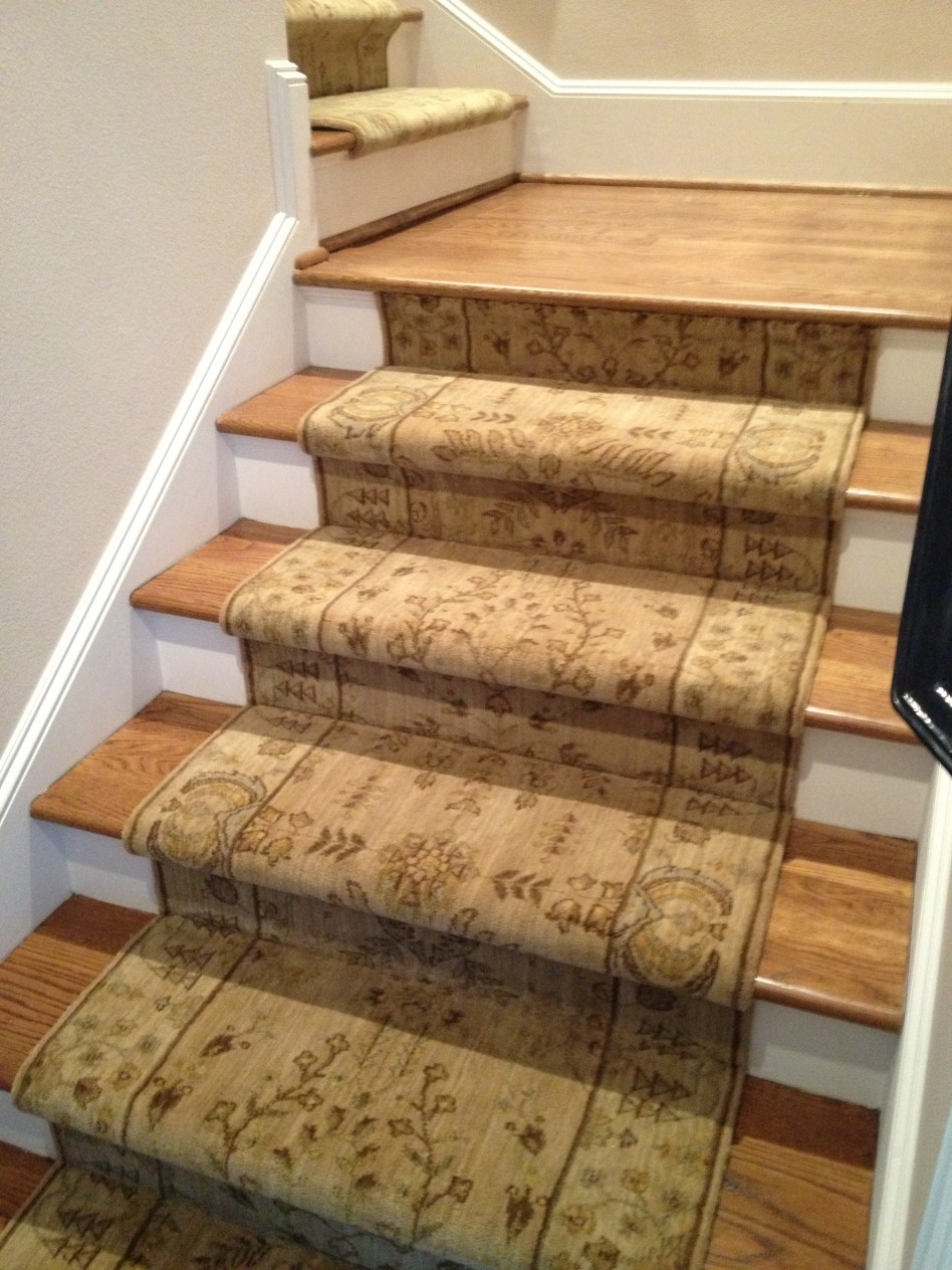 Decoration Carpet Runner Motive And Site Finished Stair Treads Intended For Decorative Stair Treads (#5 of 20)