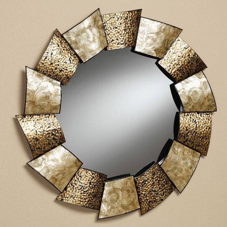 Decorations : Pretty Round Decorative Sunburst Wall Mirrors Ideas Intended For Unique Round Mirrors (#15 of 30)
