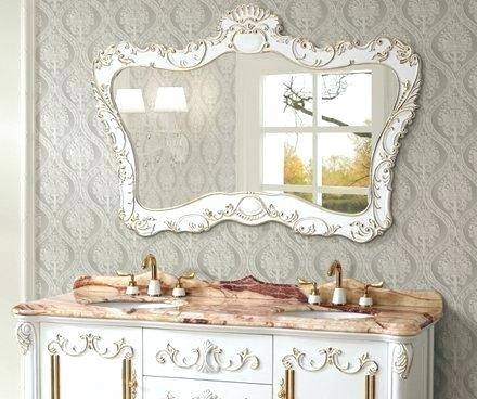 Decorative Antique Mirror In Classic White From Legion Intended For White Antique Mirrors (#12 of 20)