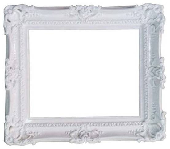 Decorative Baroque Style White Frame – Traditional – Picture In Baroque White Mirrors (#11 of 20)