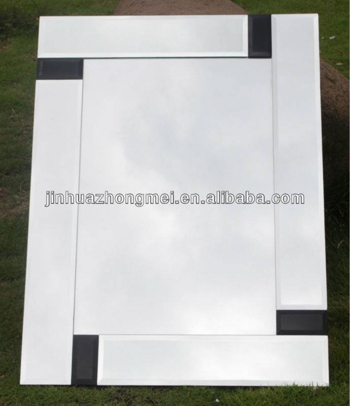 Decorative Broken Mirror/wavy Bathroom Wall Mirrors/decorative In Triple Wall Mirrors (#12 of 30)