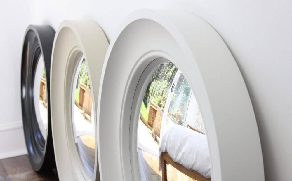 Decorative Convex Mirror – Medium Cavetto – Omelo Mirrors Omelo For White Convex Mirrors (#14 of 30)