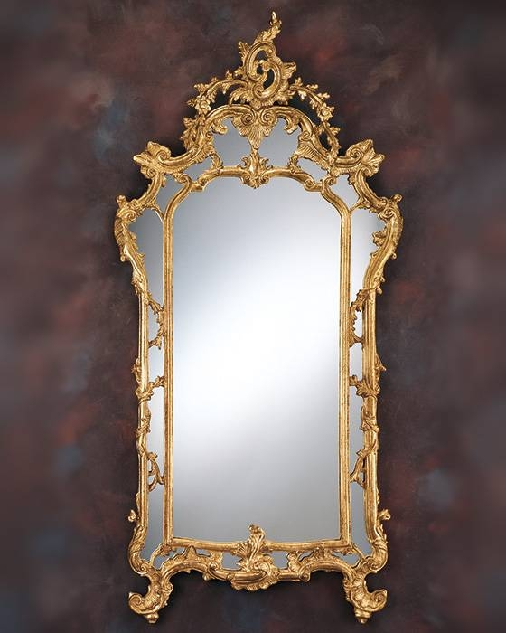 Decorative Mirror And Baroque Gold Leaf Decorative Mirror Inside Gold Baroque Mirrors (#18 of 30)