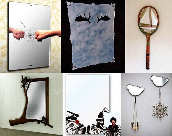 Decorative Mirror Collection, Unusual Mirror Stickers And Wall Mirrors In Unusual Mirrors (#9 of 20)