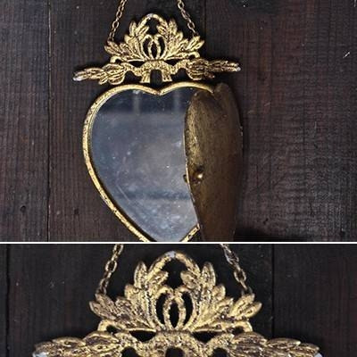 Decorative Mirrors | Heart Mirror | Locket Mirror Intended For Gold Heart Mirrors (#12 of 30)