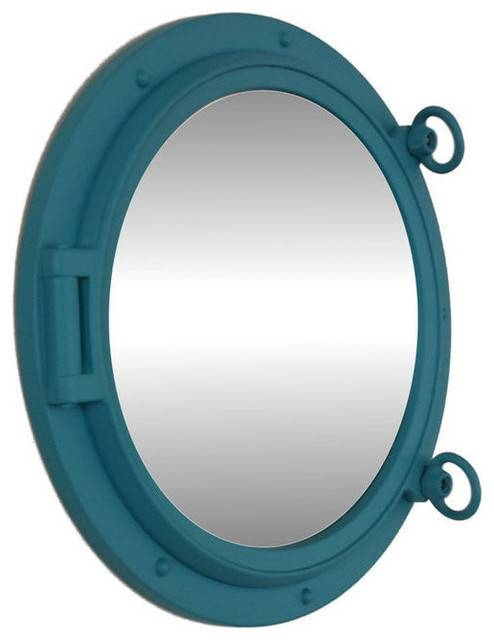 "Decorative Ship Porthole Window, Light Blue, 15"" – Beach Style Intended For Porthole Style Mirrors (#7 of 20)"