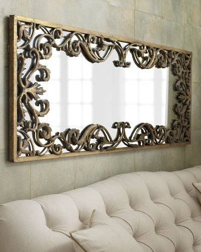 Decorative Wall & Floor Mirrors At Neiman Marcus With Regard To Fancy Wall Mirrors (#7 of 20)