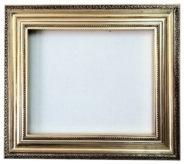 Decorative Wall Mirror Frame In Bright Gold Leaf Bronze With Brown Throughout Bronze Wall Mirrors (#9 of 20)