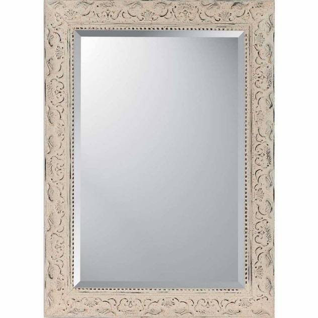 """Decorative Wall Mirrorparagon:""""aged Ivory Embellished"""" – Mirrors Intended For Embellished Mirrors (View 22 of 30)"""