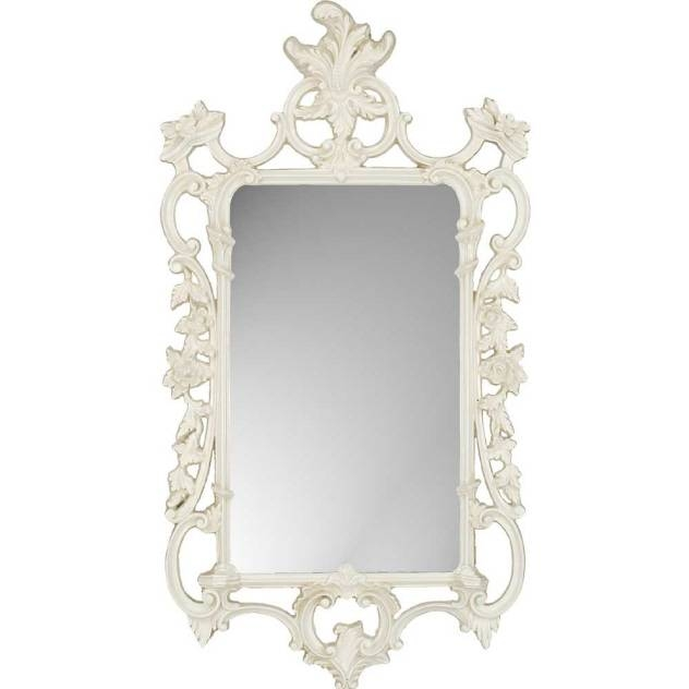 "Decorative Wall Mirrorparagon:""white Ornate"" – Mirrors Throughout White Ornate Mirrors (#8 of 20)"
