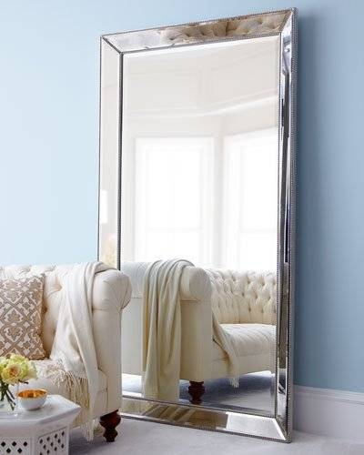 Decorative Wall Mirrors & Floor Mirrors At Horchow Inside Long Silver Mirrors (#17 of 30)