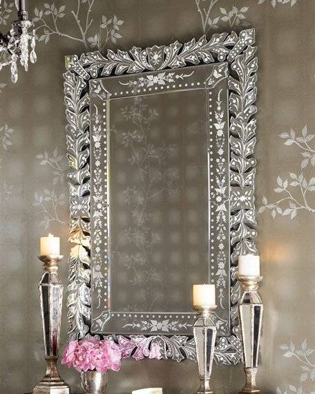 Decorative Wall Mirrors & Floor Mirrors At Horchow Within Wall Mirrors With Crystals (#13 of 20)