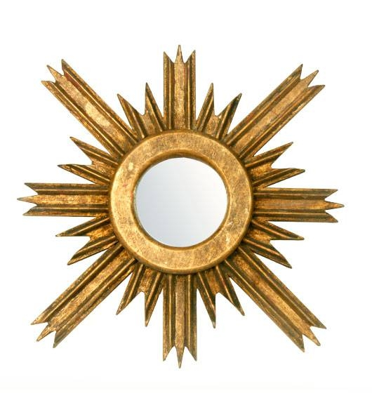 Decorative Wall Mirrors Sun Shape Round Wall Mirror Intended For Large Sun Shaped Mirrors (#11 of 20)