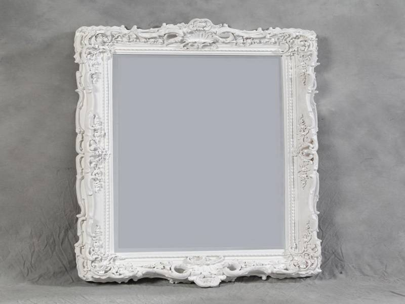 Decorative White Wall Mirror : Doherty House – White Wall Mirror Ideas In White Baroque Wall Mirrors (#13 of 20)